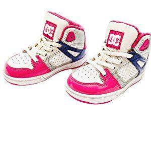 DC Rebound Crazy Pink Skate Sneakers